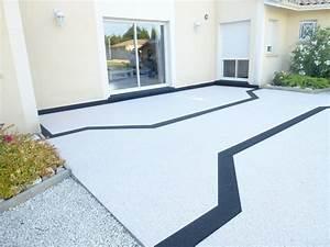 Resine Pour Gravier : terrasse gravier resine free gravier stabilis et gazon ~ Premium-room.com Idées de Décoration