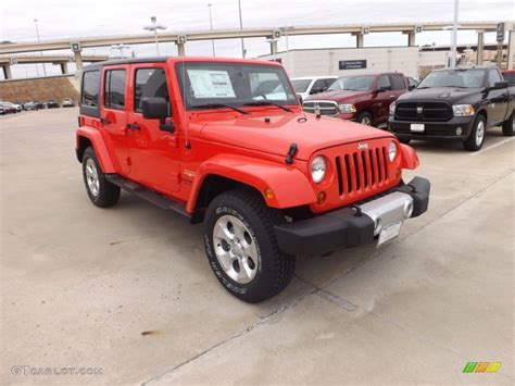 jeep sahara red rock lobster red 2013 jeep wrangler unlimited sahara 4x4
