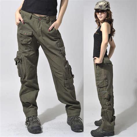 celana jogger cewek 39 s army cargo outdoor hiking mid waist