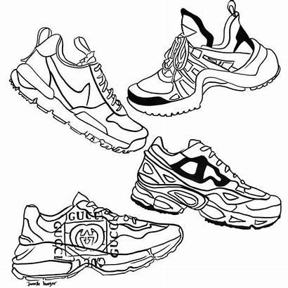 Shoes Sketch Sneakers Fallen Arches Walking Feet