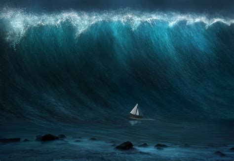 Small Boat Large Waves the science of a tsunami what causes tides to become so