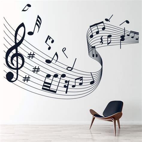 musical note score wall stickers  wall art