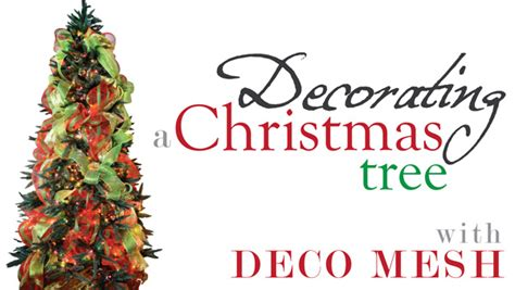How To Use Decorative Mesh On Trees - ideas by mardi gras outlet tree