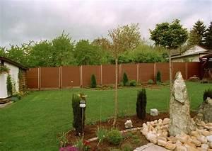 Zaun sichtschutz holzoptik wpc das beste aus wohndesign for Garten planen mit balkon alu holzoptik
