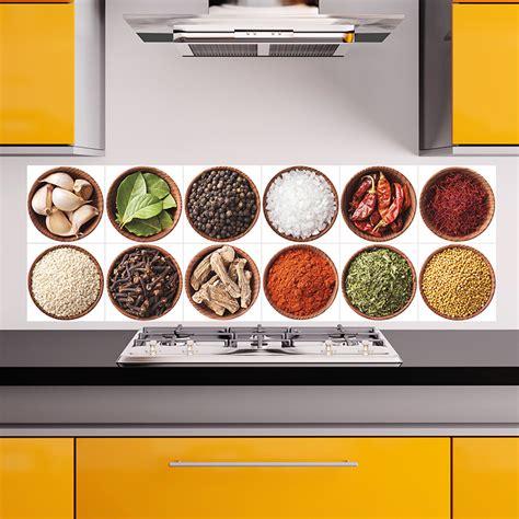 epices de cuisine sticker pour carrelage les épices stickers cuisine