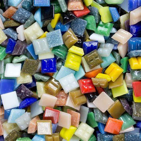 mosaic tile supplies glass mosaic tiles 3 8 inch economy bulk 5 lbs