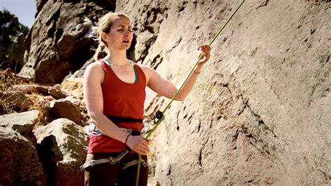 Rock Climbing Basics Toprope Belay Technique Youtube