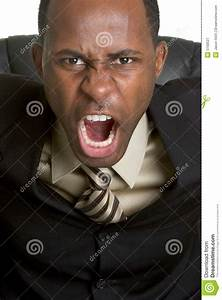 Angry Yelling Businessman stock image. Image of furious ...