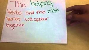 How Do You Diagram A Sentence That Contains A Helping Verb
