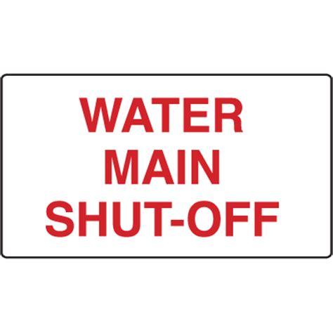 Water Main Shutoff Signs Seton