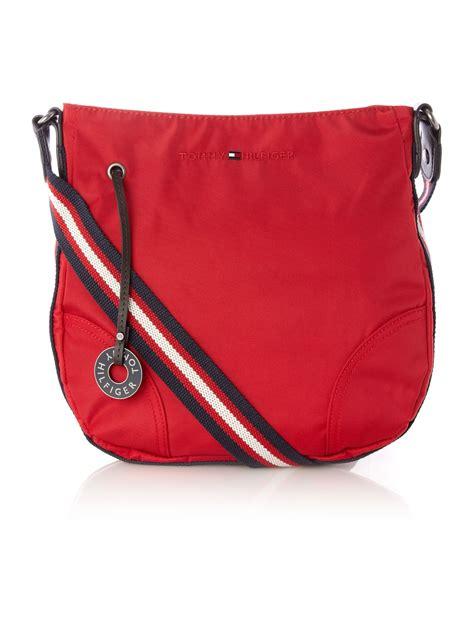 tommy hilfiger medium amanda cross body bag  red lyst