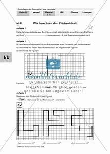 Integrale Berechnen Aufgaben : geometrie bestimmung von fl cheninhalt und umfang mit aufgaben und l sungen meinunterricht ~ Themetempest.com Abrechnung