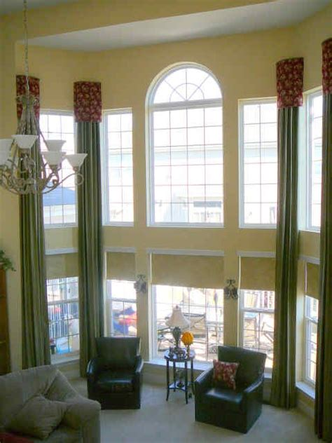 Window Treatments For Large Windows by Drapery Ideas For Windows Large Sized Windows