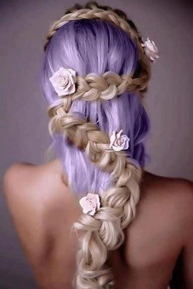 Hairstyles Dyed Hair Braids Coloured Hair Super Cute