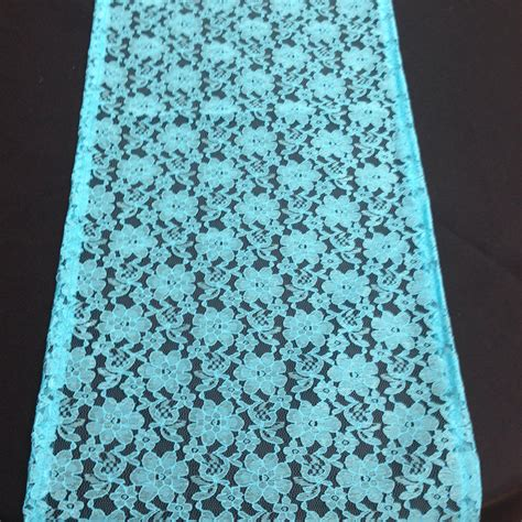 aqua blue table runner lace table runner aqua blue lace table runner wedding