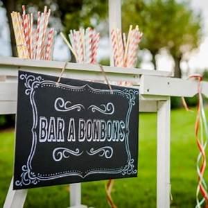 Bar A Bonbon Mariage : panneau avec message bar en bonbons sur fond ardoise retro ~ Melissatoandfro.com Idées de Décoration