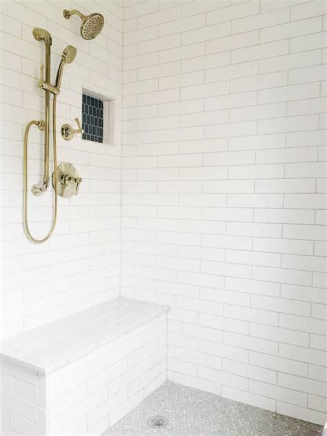 white subway tile    master bathroom renovation