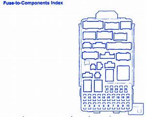Honda Crv 2 2l 2005 Component Fuse Box  Block Circuit Breaker Diagram