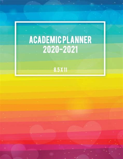 academic planner colorful lgbt flag year