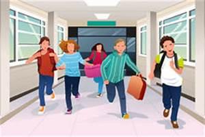 School Hallway Stock Illustrations – 186 School Hallway ...