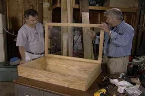 learn   design  build  wall hung curio cabinet