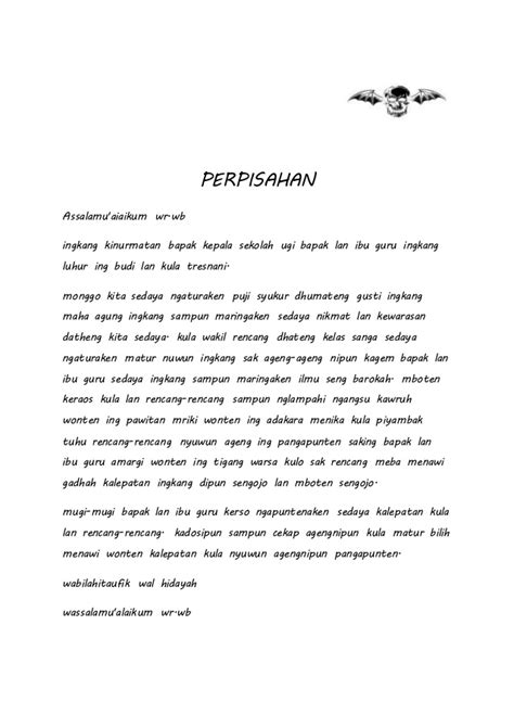 Teks Pidato Bahasa Jawa Perpisahan Kelas 9 Berbagai Teks Penting