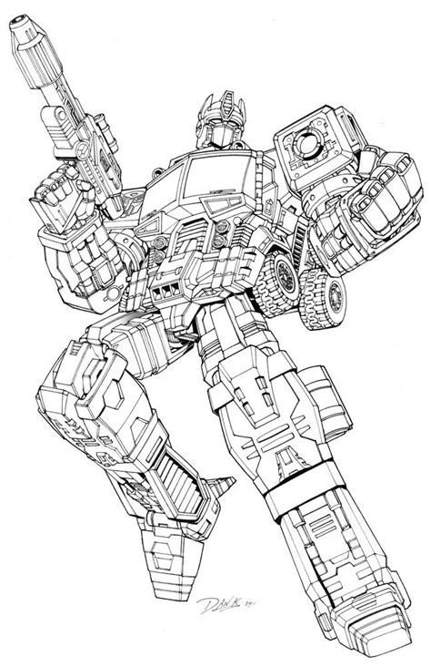 transformer coloring pages  kids transformers