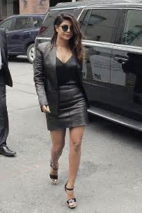 priyanka chopra       toronto leather