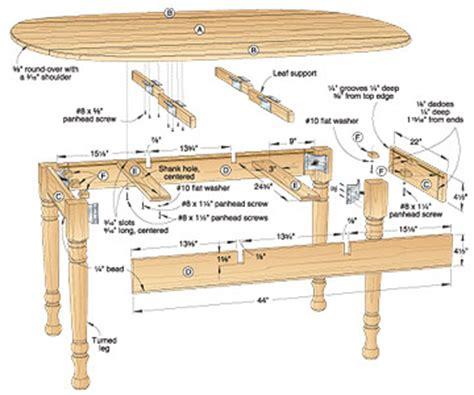 drop leaf table construction hidden leaf table plans woodideas