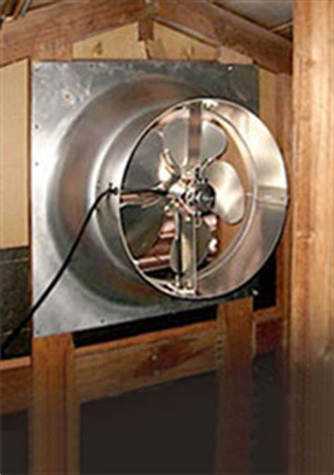 how to install an attic fan attic fans coolthatgarage com