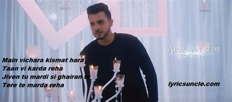 Main Vichara Lyrics  Armaan Bedil  Sucha Yaar