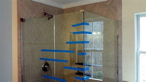 installing glass tile on wall install frameless glass doors for tile shower youtube