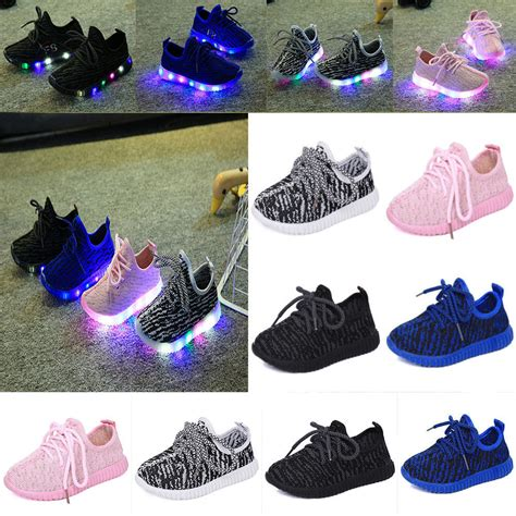 kids sneakers with lights 2017 unisex fashion led light up luminous sneakers kids