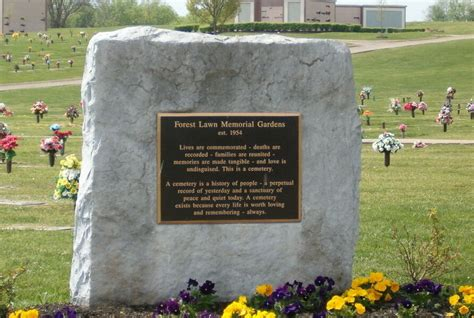 Forest Memorial Gardens by 2 Cemetery Plots At Forest Lawn Memorial Gardens