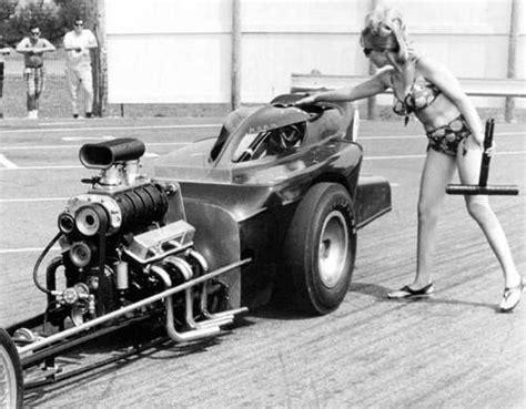 vintage drag racing dragster  bikini  altered