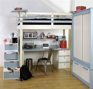 Lit Mezzanine Ado : lit mezzanine ado espace loggia ~ Teatrodelosmanantiales.com Idées de Décoration
