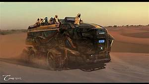 Sci-fi futuristic art artwork vehicle transport vehicles ...