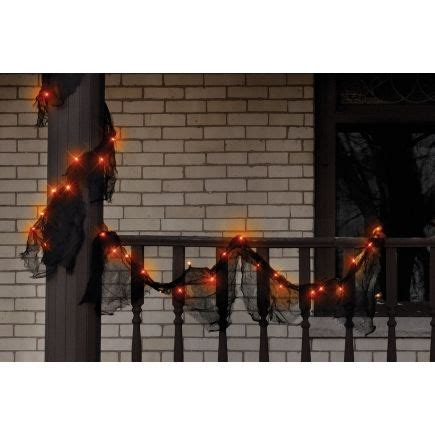 ace hardware outdoor christmas decorations impact innovations 108in orange lighted gauze garland ace hardware happy light