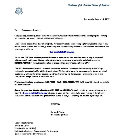 invitation letter sgtq  embassy  guatemala