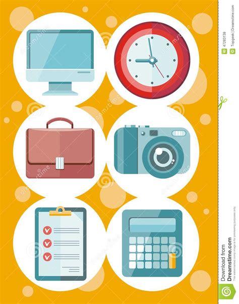 icones du bureau bureau et ensemble d 39 icône de gestion du temps