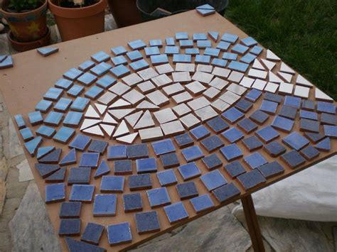 dos mesas de mosaico paso  paso bricolaje