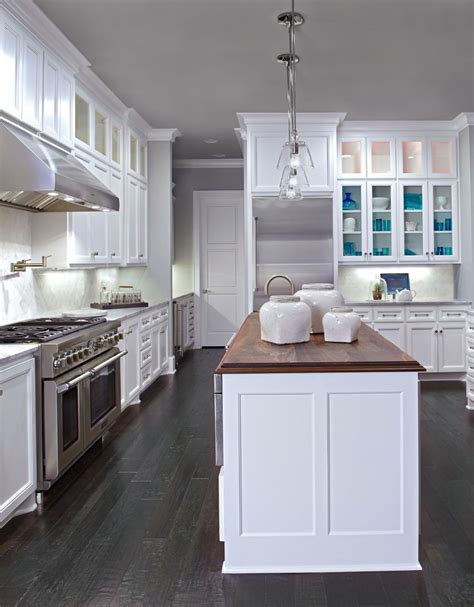 white cabinets with wood floors white cabinets dark wood floors wood countertop in 762 | b1e46a949f7baf1c844a5a0934b8c52e