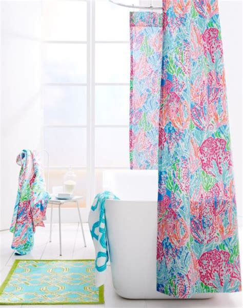 lilly pulitzer curtains lilly pulitzer florals shower curtain by garnet