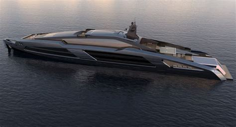 aqueous meter superyacht concept features stainless