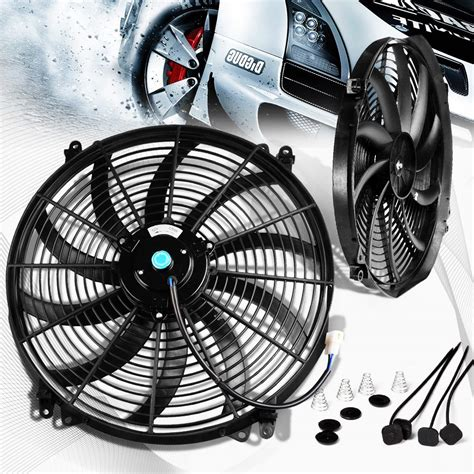 electric radiator fans for cars universal 16 quot inch 12v slim fan push pull electric