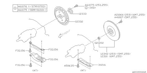 Subaru 2 5xt Engine Diagram by 12342aa090 Genuine Subaru Flywheel Assy