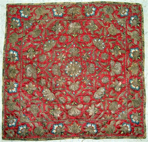 antique persian silk embroidery  century  silk