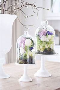 Deco Table Printemps : cloches en verre d co 30 id es de d co printemps p ques ~ Preciouscoupons.com Idées de Décoration
