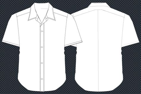 Collar T Shirt Template Psd by Shirt Template Vector Front And Back Free T