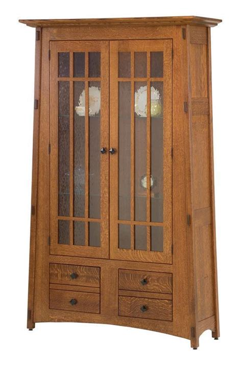 Mission Bookcase Glass Doors by Amish Mccoy Mission Bookcase With Glass Mullion Doors